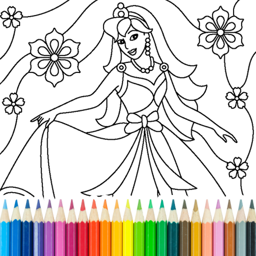 Princess Coloring Game  Android Modded file download (Unlimited money,Mod)15.3.8  apk no root
