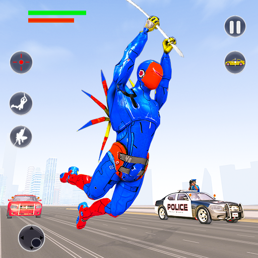 Flying Robot Rope Hero – Vegas Crime City Gangster  Android Modded file download (Unlimited money,Mod)2.3  apk no root