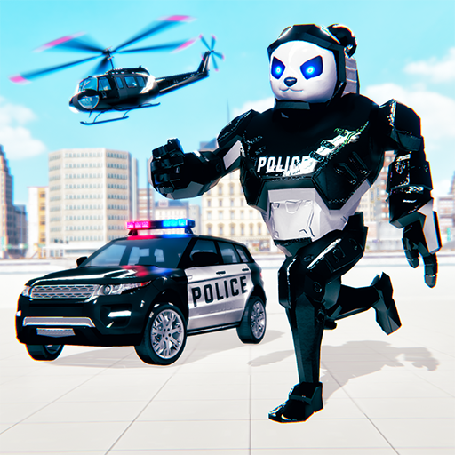 Police Panda Robot Transformation: Robot Shooting  (Unlimited money,Mod) for Android 2.0.1
