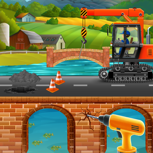 Build Village Bridge: Highway Road Construction  (Unlimited money,Mod) for Android