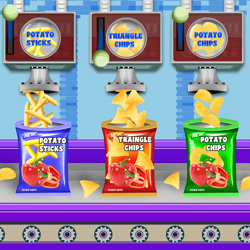 Crispy Potato Chips Factory: Snacks Maker Games  (Unlimited money,Mod) for Android