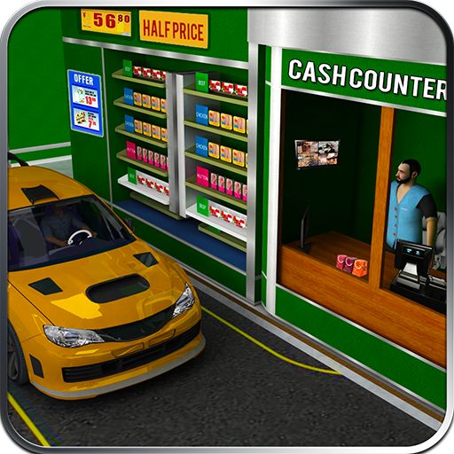 Drive Thru Supermarket: Shopping Mall Car Driving  (Unlimited money,Mod) for Android 2.0