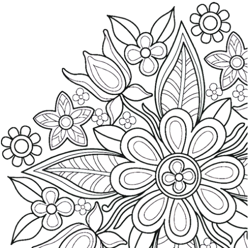 Flowers Mandala coloring book  (Unlimited money,Mod) for Android 7.7.0