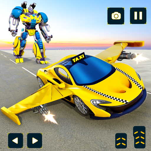 Flying Taxi Car Robot: Flying Car Games (Unlimited money,Mod) for Android