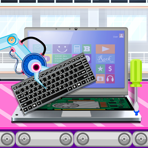 Laptop Factory: Computer Builder & Maker Games  (Unlimited money,Mod) for Android