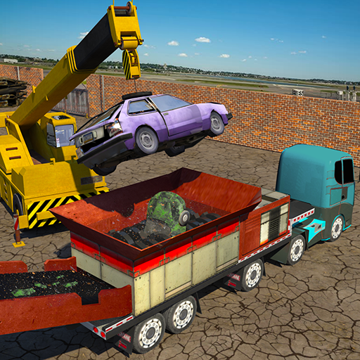 Monster Car Crusher Crane 2019: City Garbage Truck (Unlimited money,Mod) for Android 1.5