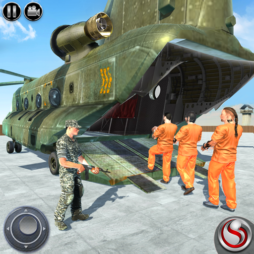 OffRoad US Army Helicopter Prisoner Transport Game  (Unlimited money,Mod) for Android 2.3