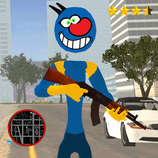 Oggy Stickman Rope Hero : Vice Town  (Unlimited money,Mod) for Android