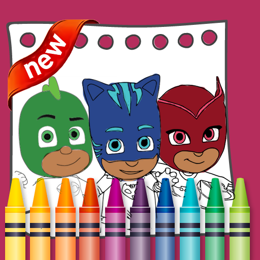 PJ Superheroes Masks Coloring  (Unlimited money,Mod) for Android