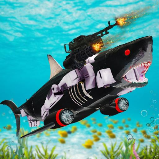 Shark Robot Transformation – Robot Shark Games  (Unlimited money,Mod) for Android