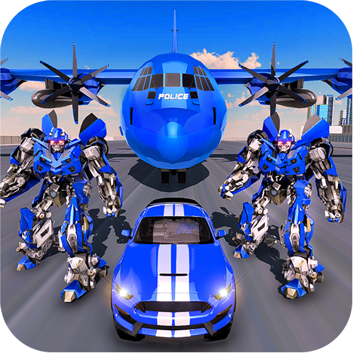 US Police Robot Transform – Police Plane Transport  (Unlimited money,Mod) for Android