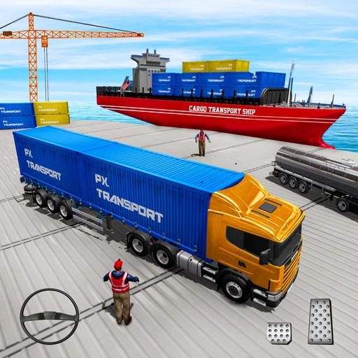 US Truck Cargo Simulator: Transporter Ship Driving  (Unlimited money,Mod) for Android