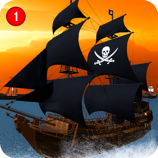 Caribbean Sea Outlaw Pirate Ship Battle 3D  (Unlimited money,Mod) for Android