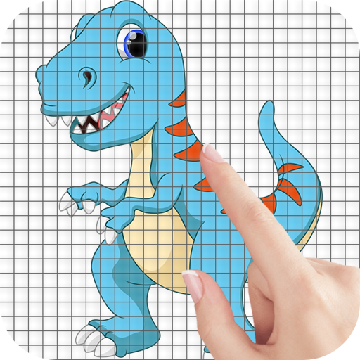 Cartoon Dinosaurs Color by Number – Pixel Art Game  (Unlimited money,Mod) for Android