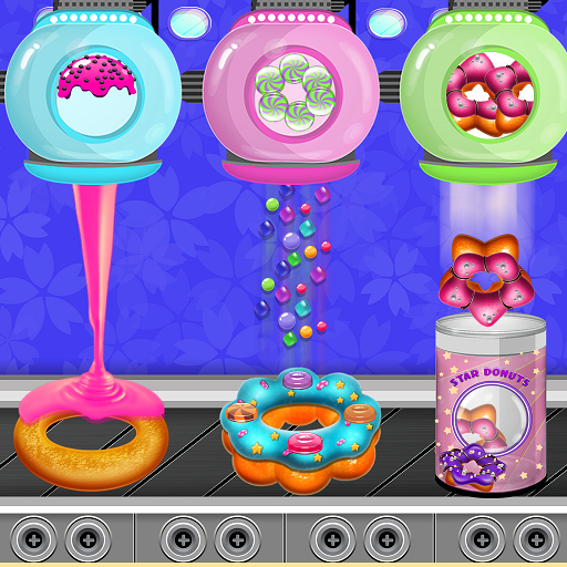 Donuts Cooking Factory: Baking Dessert in Kitchen  (Unlimited money,Mod) for Android