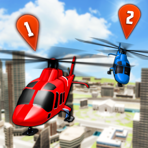 Flying Helicopter Simulator 2019: Heli Racer 3D  (Unlimited money,Mod) for Android