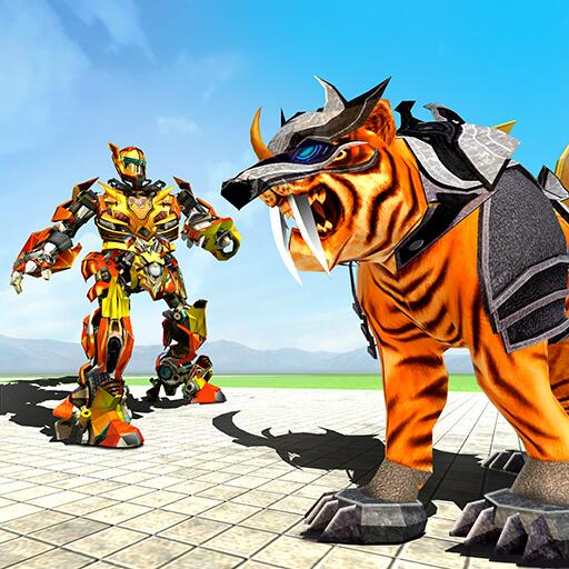 Futuristic Robot Tiger Real Robot Transformation  (Unlimited money,Mod) for Android