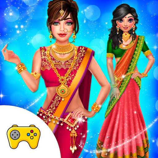 Indian Wedding Saree Designs Fashion Makeup Salon  (Unlimited money,Mod) for Android