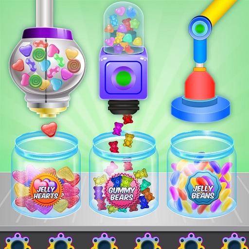 Jelly Candy Factory: Gumball & Lollipop Maker Chef  (Unlimited money,Mod) for Android