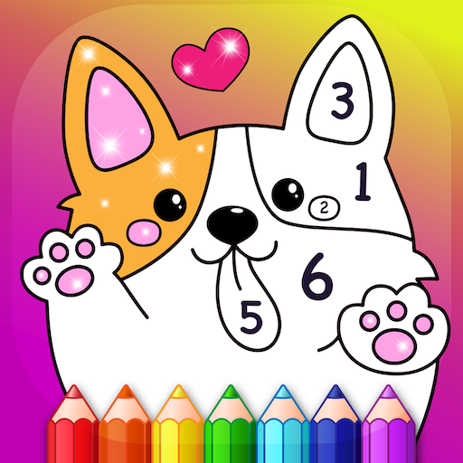 Kids Color by Numbers Book with Animated Effects  (Unlimited money,Mod) for Android