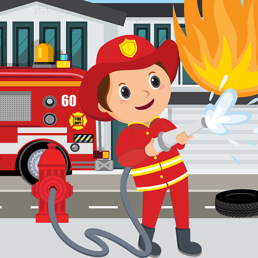 Pretend Play Fire Station: Town Firefighter Story  (Unlimited money,Mod) for Android