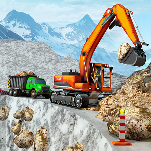 Snow Offroad Construction Excavator  (Unlimited money,Mod) for Android