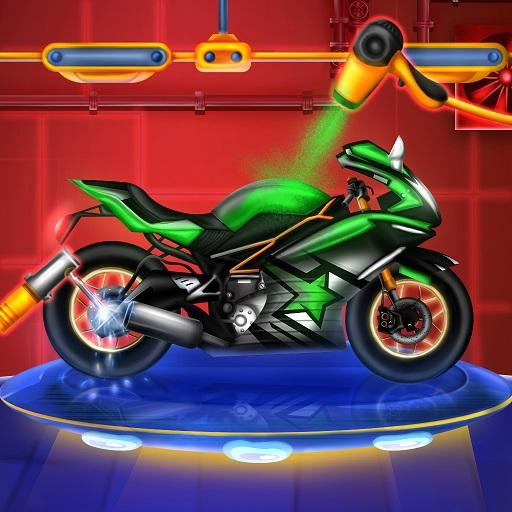 Sports Motorcycle Factory: Motorbike Builder Games  (Unlimited money,Mod) for Android