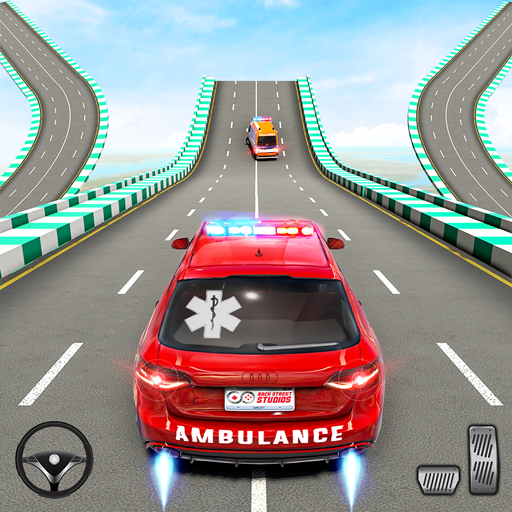Ambulance Car Stunts: Mega Ramp Stunt Car Games  (Unlimited money,Mod) for Android 2.1