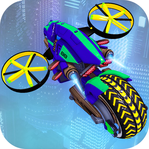 Flying Bike Future City Mayhem  (Unlimited money,Mod) for Android 1.3