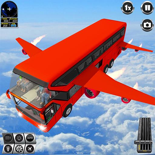 Flying Bus Driving simulator 2019: Free Bus Games  (Unlimited money,Mod) for Android 3.0