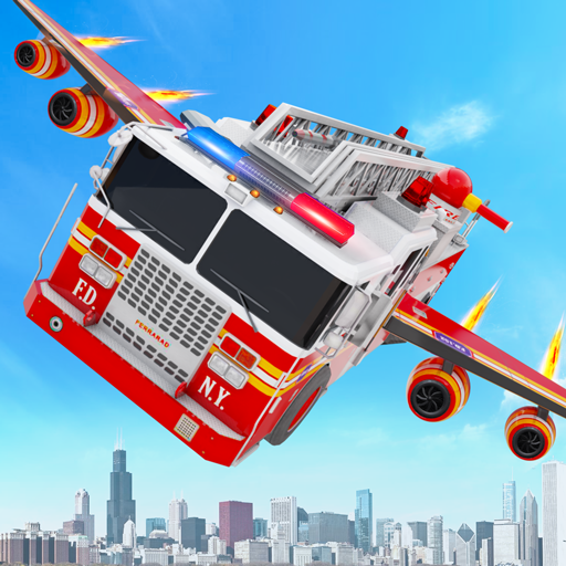 Flying Firefighter Truck Transform Robot Games  (Unlimited money,Mod) for Android 29