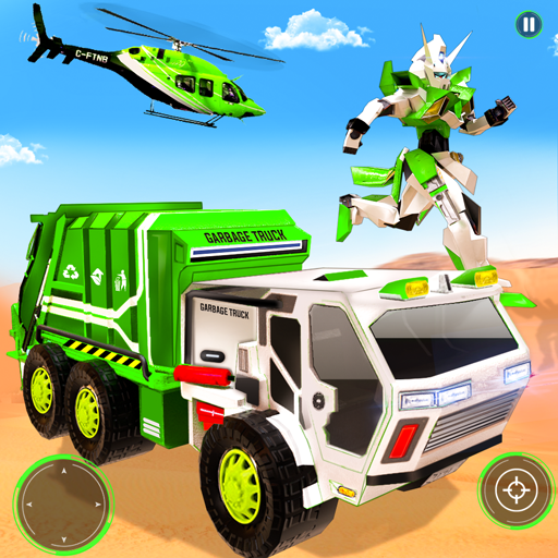 Flying Garbage Truck Robot Transform: Robot Games  (Unlimited money,Mod)  19 for Android