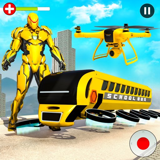 Flying School Bus Robot: Hero Robot Games  (Unlimited money,Mod) for Android 23