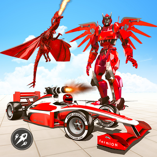 Formula Car Robot Transform – Flying Dragon Robot  (Unlimited money,Mod) for Android 1.8