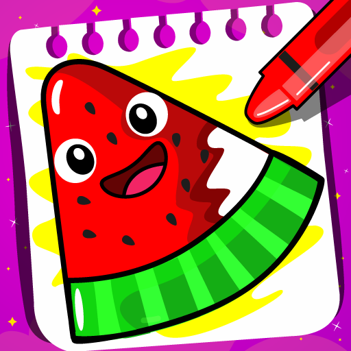 Fruits Coloring book & Food Drawing book Kids Free  (Unlimited money,Mod) for  1.4