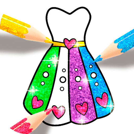 Glitter Dress Coloring Game for girls  (Unlimited money,Mod) for Android 1.5