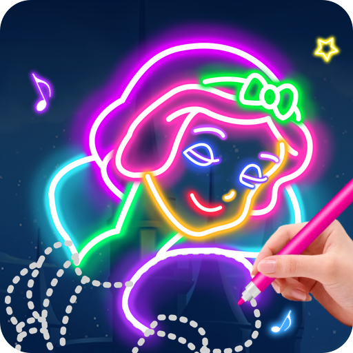 Learn To Draw Glow Princess  (Unlimited money,Mod) for Android 1.0.19