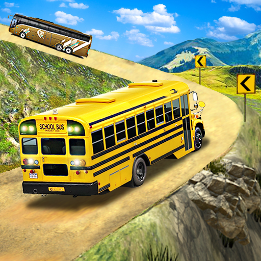 Offroad School Bus Driving: Flying Bus Games 2020  (Unlimited money,Mod) for Android 1.36