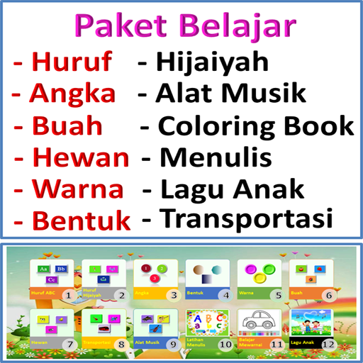 Paket Belajar Lengkap Anak  (Unlimited money,Mod) for Android 1.1.21