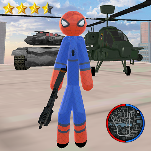 Stickman Spider Rope Hero Gangstar Crime  (Unlimited money,Mod) for Android 1.2