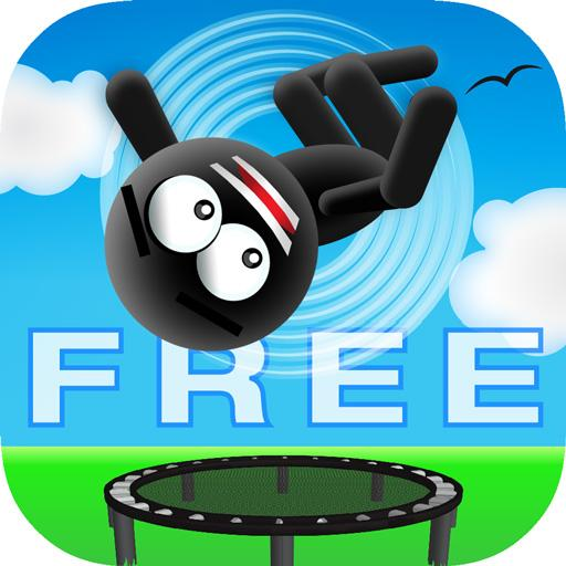 Stickman Trampoline FREE Backflip Jump Flip Master  (Unlimited money,Mod) for Android 4.8.1