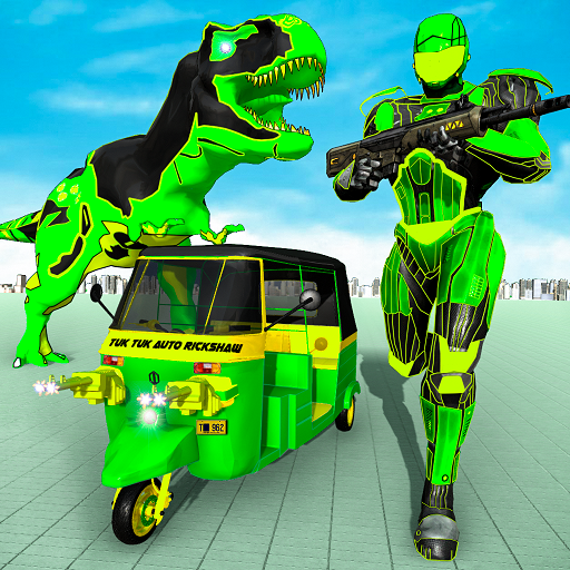 Tuk Tuk Auto Rickshaw Transform Dinosaur Robot  (Unlimited money,Mod) for Android 1.9