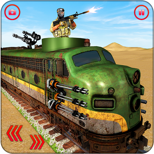 US Army Train Gunship Attack : Train Driving Games  (Unlimited money,Mod) for Android 1.3.2