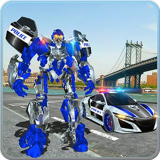 US Police Car Real Robot Transform: Robot Car Game  (Unlimited money,Mod) for Android 163