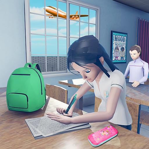 Virtual High School Girl Game- School Simulator 3D  (Unlimited money,Mod) for Android 1.0.0