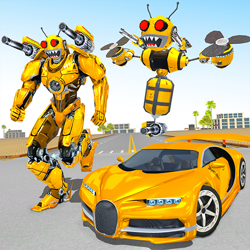 Bee Robot Car Transformation Game: Robot Car Games  (Unlimited money,Mod) for Android 2.24