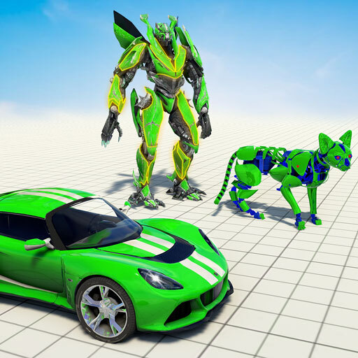 Cat Robot Car Game – Car Robot War  (Unlimited money,Mod) for Android 1.3