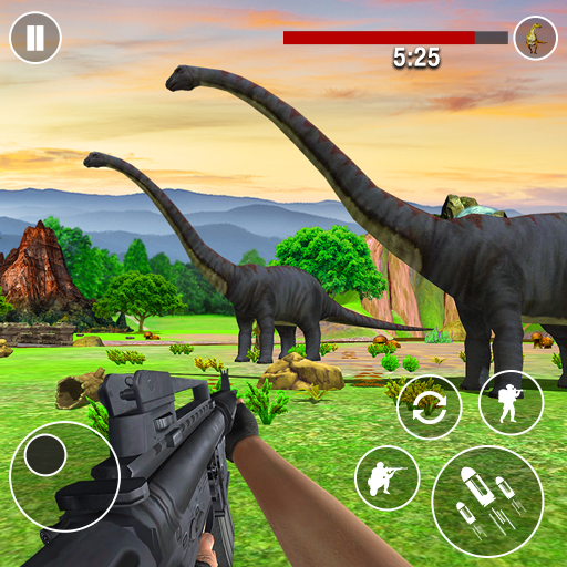Dinosaurs Hunter Wild Jungle Animals Shooting Game  (Unlimited money,Mod) for Android 4.0