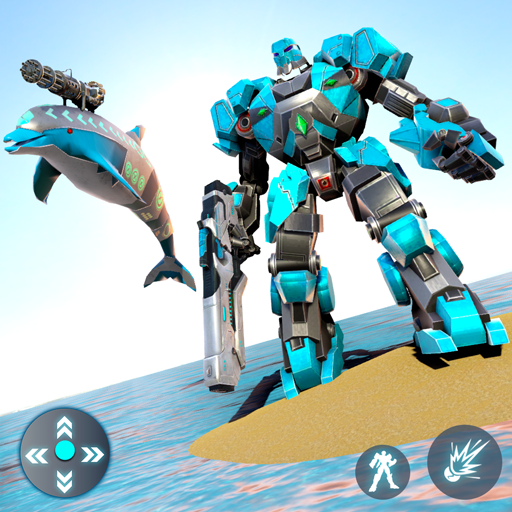 Dolphin Robot Transform: Robot War  (Unlimited money,Mod) for Android 1.4