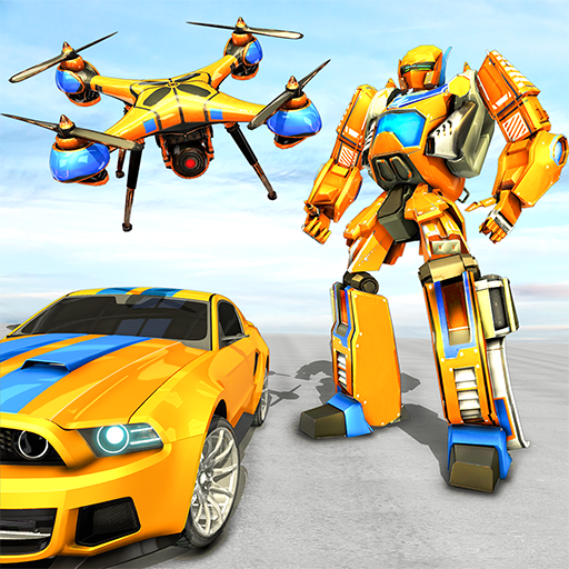 Drone Robot Car Game – Robot Transforming Games  (Unlimited money,Mod) for Android 1.2.3